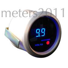 """2"""" Digital Volt Meter Blue LED Smk  Lens Silver 12 Volt DC range 0 - 19.9"""