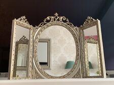 Wall Mirror Antique Silver Oval Rectangular Bathroom Baroque 60X46 Make-Up
