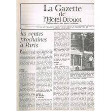 La GAZETTE de l'Hôtel DROUOT 1983 N°26 Claude MONET à FOUJITA Objet d'Art XVIIIè