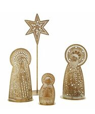 HALLMARK METAL 4 PC NATIVITY SET. Christmas BENEFITS CHARITY! NIB