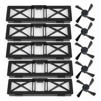 5pcs HEPA Filters + 5pcs Side Brushes Set for Neato Botvac D Series Vacuum Robot