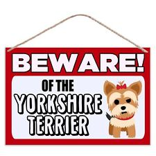 Beware of The Yorkshire Terrier - Large Metal Plaque Sign 30x20cm Dog