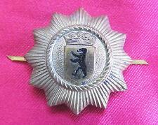 Policía Police bgs gorra casco cap badge insignia Berlín