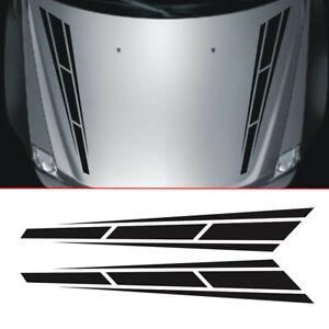 Car Racing Stripes x2 Vinyl Graphics Decals Front Hood Car Sticker Decoration