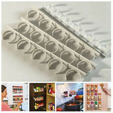 20 Clips/4 Pcs Organizer Cabinet Clip Rack Jar Spice Bottle Holder Wall Gripper