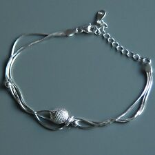 Sterling silver Ball  & Fish Bracelet by Lepos Jewellery