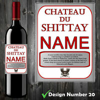 WINE BOTTLE LABEL PERSONALISED FUNNY BIRTHDAY ALL OCCASIONS CHRISTMAS GIFT