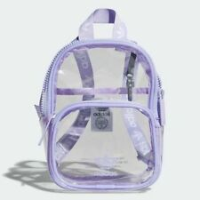 NEW  adidas UNISEX KIDS Juniors  CLEAR MINI Backpack School Bag  LT PURPLE  1AVL