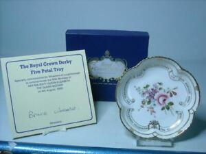 1990 Royal Crown Derby 90th BIRTHDAY QUEEN ELIZABETH Q / MOTHER Five Petal Dish