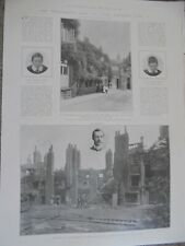 Photo article the fire at Eton College 1903 ref Al