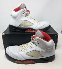 Nike Air Jordan Retro 5 Fire Red White Black Men's Size 13 V 136027-100 2013