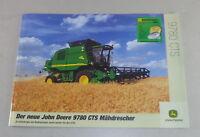 Folleto John Deere Máquina Segadora 9780 Cts Soporte 10/2001