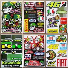 Rally Dakar Dirt Bike Motocross Racing Car Bike Helmet Boy Stickers 6 sheets