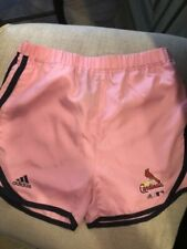 ADIDAS PINK SAINT LOUIS CARDINALS SHORTS SIZE SM 7/8 NEW WITH TAGS