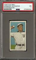 Rare 1909-11 T206 Germany Schaefer Old Mill Washington PSA 1 *Undergraded*