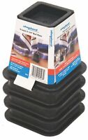Shepherd Hardware 9523 6-Inch Molded Bed Risers, Black Finish, 4-Count