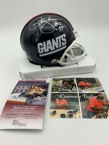 Lawrence Taylor Signed New York Giants Throwback Mini Helmet HOF '99 Helmet JSA