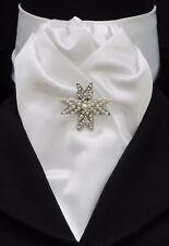 Pronto legato Bianco in Seta Sintetica equitazione STOCK & Perla & Diamante STAR STOCK Pin