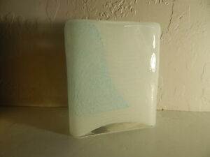 "CYAN DESIGN -""Beautiful Objects For Beautiful Lives""-Small Vase-Cyan Blue/White"