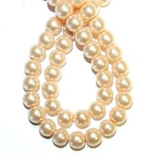 """G4463 Light Pink Pearl 8mm Round Pearlized Glass Beads 30"""""""