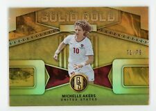 2019-20 Michelle Akers 71/79 Panini Gold Standard Solid Gold
