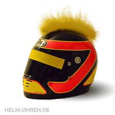 Helmirokese/ Helm Punk Iro/ Irokese/ Helmaufsatz -f. Roller/ Motorradhelm Gelb