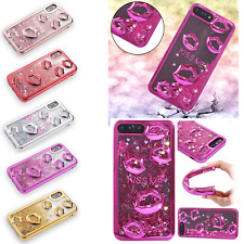 Liquid Glitter Sexy Kiss Lips Quicksand Phone Case For iPhone Samsung S9 Huawei