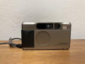 Contax T2 35mm f/2.8 Film Camera - Champagne Silver