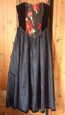 David Butler at Chartriver Vintage 80s Black Strapless Dress Unworn UK 10-12
