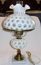 Fenton Art Glass French Opalescent Coin Dot Parlor Boudoir Lamp