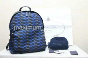 PRADA SS 2015 2VZ006 MEN'S TESSUTO STAMPATA GUN PRINT BACKPACK - AUTHENTIC