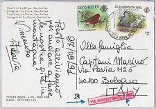 SEYCHELLES -  POSTAL HISTORY - POSTCARD : BIRDS 1991