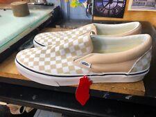 Vans Classic Slip-On (Checkerboard) Frappe/True White US 12 Men's VN0A38F7QCO