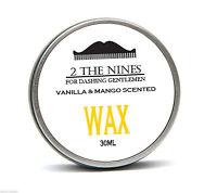 Moustache Wax | Style & Moisturise Beards | 30ml Tin | Vanilla & Mango Scent