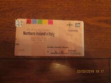 Calificador de 2010 (euro 2012) Irlanda del Norte V Billete De Italia