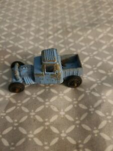"""Vintage TootsieToy Hot Rod Roadster Pickup Truck Blue 1 7/8"""" Long Diecast"""