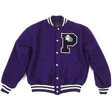 Pirate Varsity Team Jacket Wool Large Purple