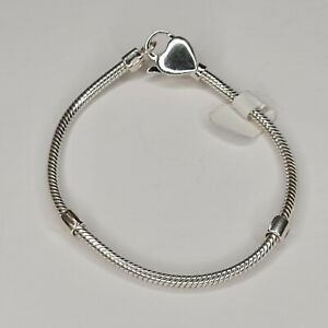 Lovelinks 21cm Heart Clasp 925 Sterling Silver Bracelet