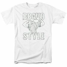 Johnny Bravo Bravo Style T Shirt Mens Licensed Cartoon Merchandise White