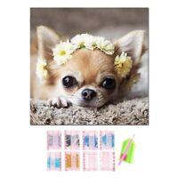 Full Square 5D Diy Diamond Painting Cute Dog Diamond Embroidery Chihuahua Cro 3H