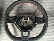 NEW SKODA OCTAVIA VRS FABIA SUPERB RED STITCH PADDLE SHIFT STEERING WHEEL