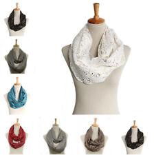 Women Warm Cotton Infinity Scarf Loop Cowl Neck Plain Wrap Shawl  Snood Pro.