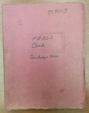 Clark FN-203 Parts Manual, MSN: GFY60-80-844, 1964