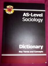 AS-LEVEL SOCIOLOGY DICTIONARY KEY TERMS AND CONCEPTS PAPERBACK BOOK VGC