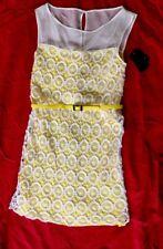 Vince Camuto NEW yellow Women's Size 6 Lace/crochet Sheath Dress $148