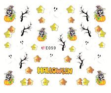 Nail Art Sticker Water Decals Transfer Stickers Halloween Pumpkins (E059)