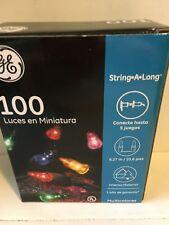 Miniature Lights 100 Multi Colored Indoor/Outdoor, GE