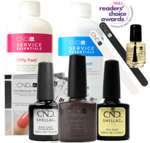 CND Shellac Student Starter Kit, Top/Base/Essentials/Color Rubble