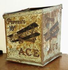 "Vintage ""POPPER'S ACE CIGAR TIN"" Super Rare store display"