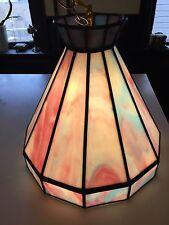 Vintage Slag Glass Ceiling Or Hanging Light Fixture Lamp